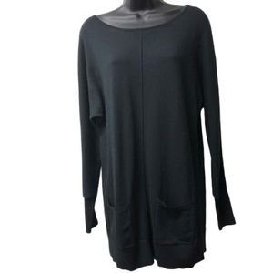 Caslon Black Tunic Top With Pockets
